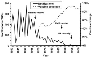 Measles vaccine and notifications